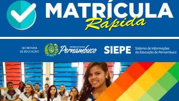 Matrícula Rápida Escolas Governo PE
